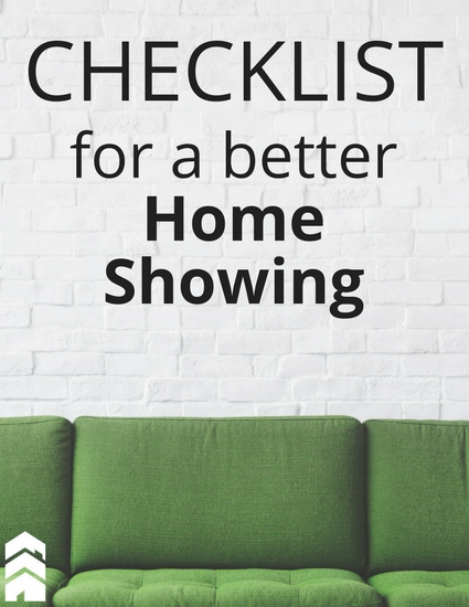 Checklist for a better Home Showing Handout