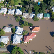 hurricane flooded housing development