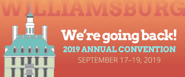 2019 Annual Convention – September 17-19, 2019