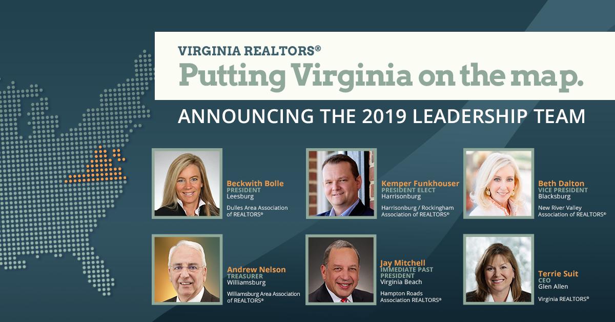 Meet the Virginia REALTORS® 2019 Leadership Team | Virginia REALTORS®