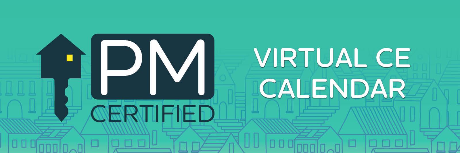 PM Cert Virtual CE Calendar