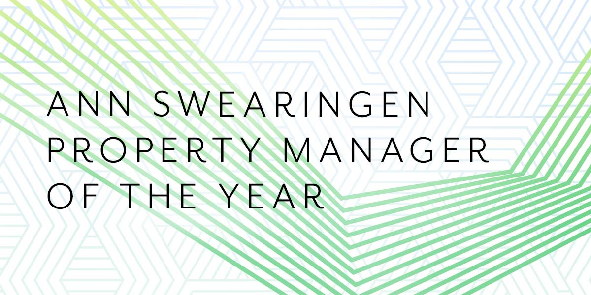Ann Swearingen Property Manager of the Year