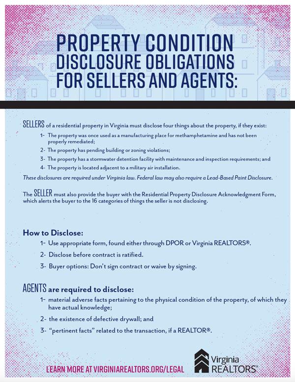 Seller Agent Disclosures poster