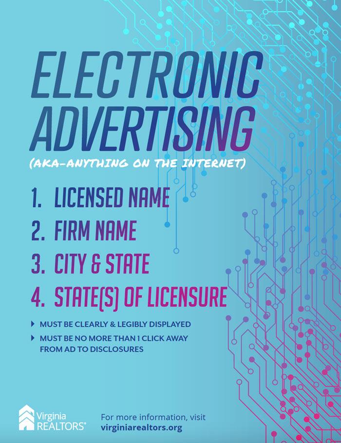 Electronic Advertising Poster