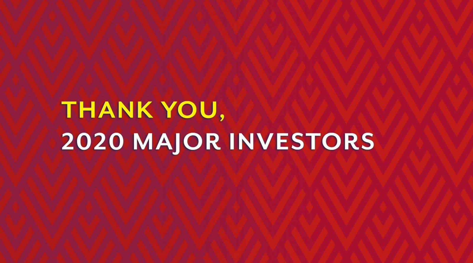 2020 Major Investors