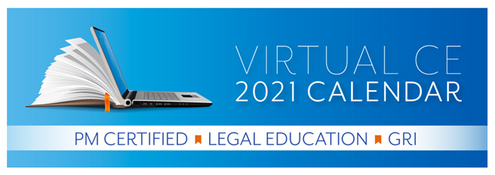 2021 Education Programs-Virtual CE Calendar