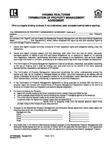 Virginia Realtors Form 900a Termination Of Property